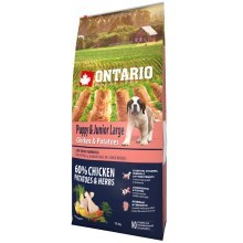 Ontario Puppy & Junior Large Chicken & Herbs 12 kg