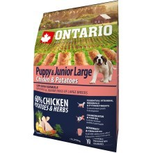 Ontario Puppy & Junior Large Chicken & Herbs 2,25 kg