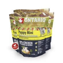 Ontario Puppy Mini Chicken & Herbs 0,75 kg
