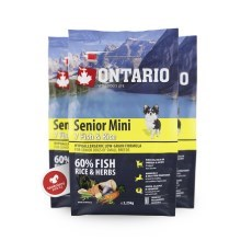 Ontario Senior mini Fish & Rice 2,25 kg
