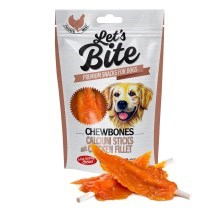 Pamlsky Brit Let's Bite Chewbones Calcium Sticks & Chicken Fillet 80 g