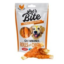 Pamlsky Brit Let's Bite Chewbones Rolls with Chicken 110 g
