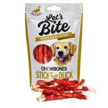 Pamlsky Brit Let's Bite Chewbones Sticks with Duck 300 g