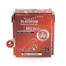Platinum Natural Menu hovězí + kuře 375 g