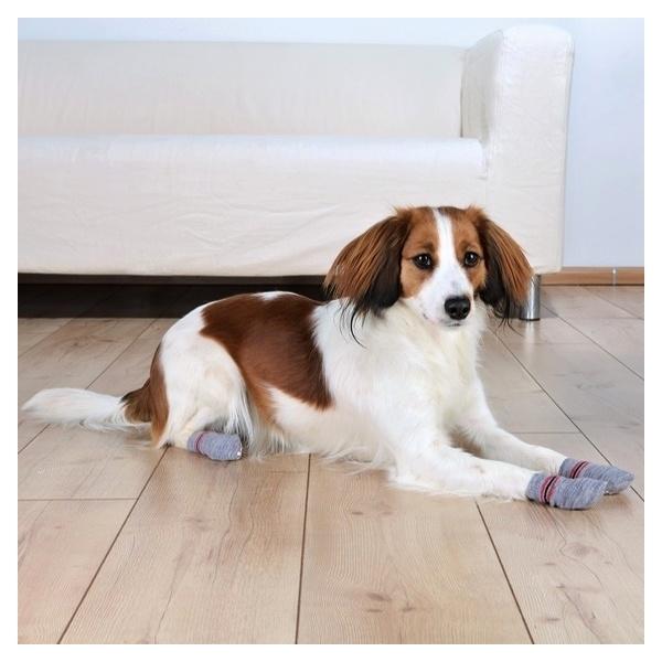 b2fc1a52fec Protiskluzové šedé ponožky