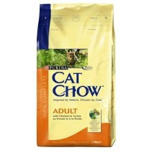 Purina Cat Chow Adult kuře, krůta 1,5 kg