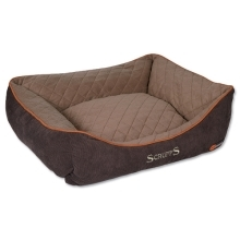 Scruffs Thermal Box Bed M 60x50cm hnědý