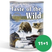 Taste of the Wild Pacific Stream konzerva 390 g 11+1 ZDARMA