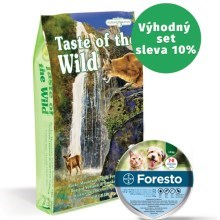 Taste of the Wild Rocky Mountain Feline 7 kg + antiparazitní obojek Foresto 38 cm