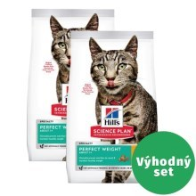 Výhodný set 2 x Hill's Feline Adult Perfect Weight Chicken 1,5 kg
