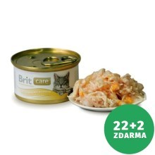 Výhodný set Brit Care Cat konzerva Chicken Breast & Cheese 80 g
