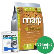 Výhodný set Marp Holistic Chicken Cat 2 kg + Frontline 1x 0,5 ml