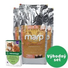Výhodný set Marp Holistic Salmon Cat 12 kg + Advantage spot-on nad 4 kg