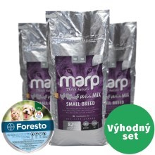 Výhodný set Marp Holistic White Mix Small Breed 12 kg + Foresto 38