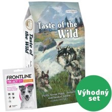 Výhodný set Taste of the Wild Pacific Stream Puppy 6 kg + Frontline Tri-Act S