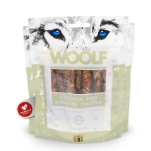 Woolf Chicken & Rawhide Twister 100 g
