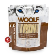 Woolf Soft Rabbit & Cod Sandwich Long 100 g