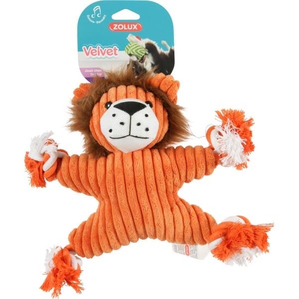 Zolux lev s uzly hračka pro psy hnědá 32 cm  6ef9afe5fe6